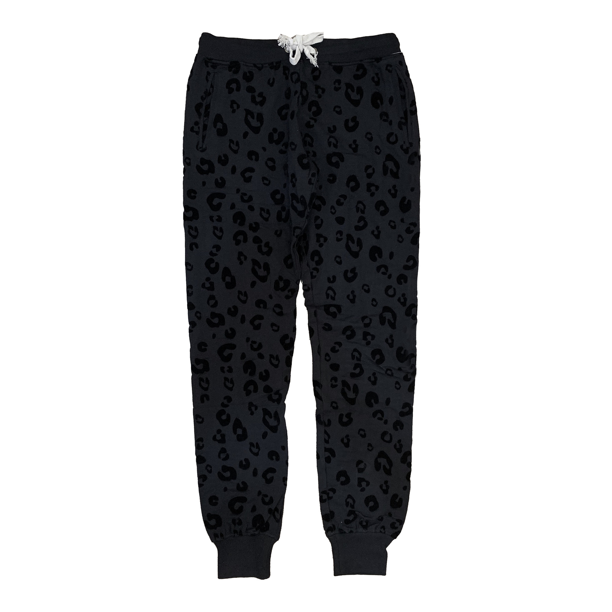 Theo & Spence Black Leopard Jogger