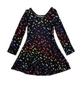 Social Butterfly Mini Rainbow Hearts Infant Dress