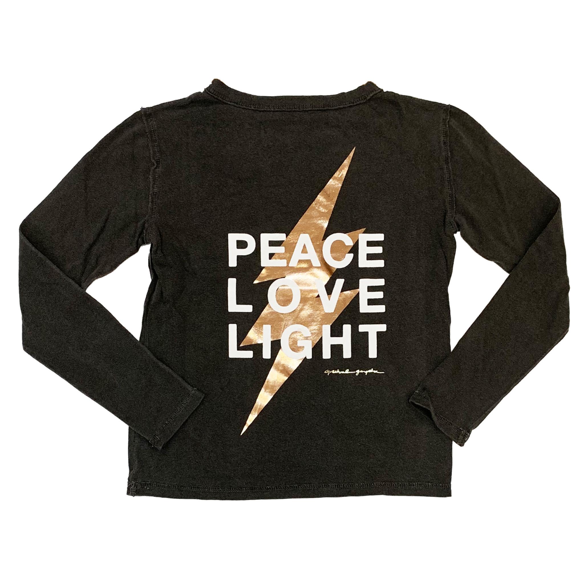 Spiritual Gangster Peace Love Light Bolt Top