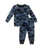 Esme Navy Camo Pajama Set