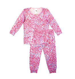 Esme Shimmer Cheetah Pajama Set