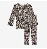 Posh Peanut Leopard Two Piece Loungewear Set