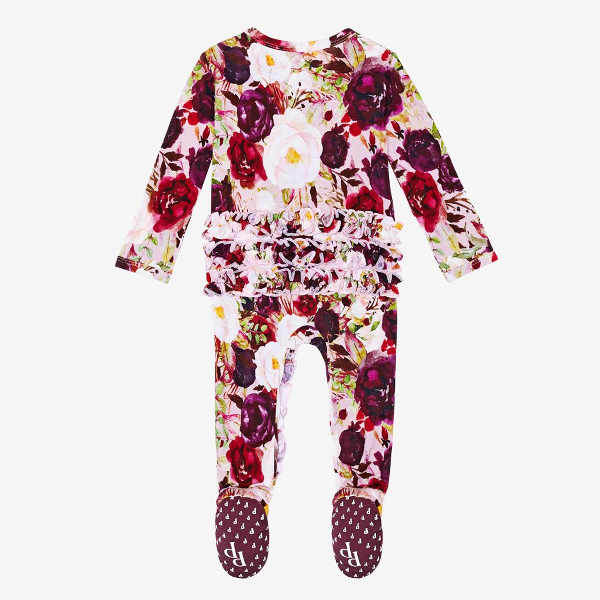 Posh Peanut Gracie Ruffle Zippered Footie