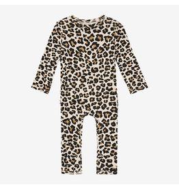 Posh Peanut Leopard Ruffle Romper
