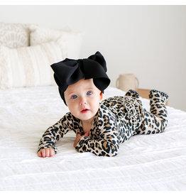 Posh Peanut Leopard Ruffle Snap Footie