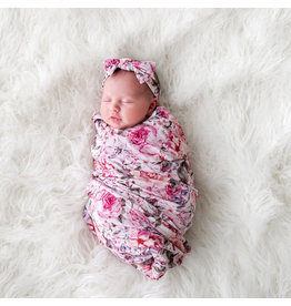 Posh Peanut Elise Floral Swaddle & Headband Set