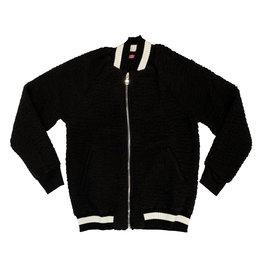 Me.N.U Black Sherpa Bomber Jacket