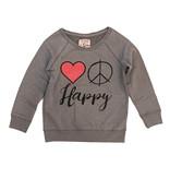 Crumbsnatcher Love Peace Happy Sweatshirt