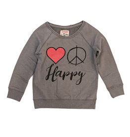 Crumbsnatcher Love Peace Happy Sweatshirt