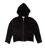 Bella Dahl Black Zip-Up Chenille Hoodie