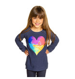 Chaser Watercolor Heart Sweatshirt