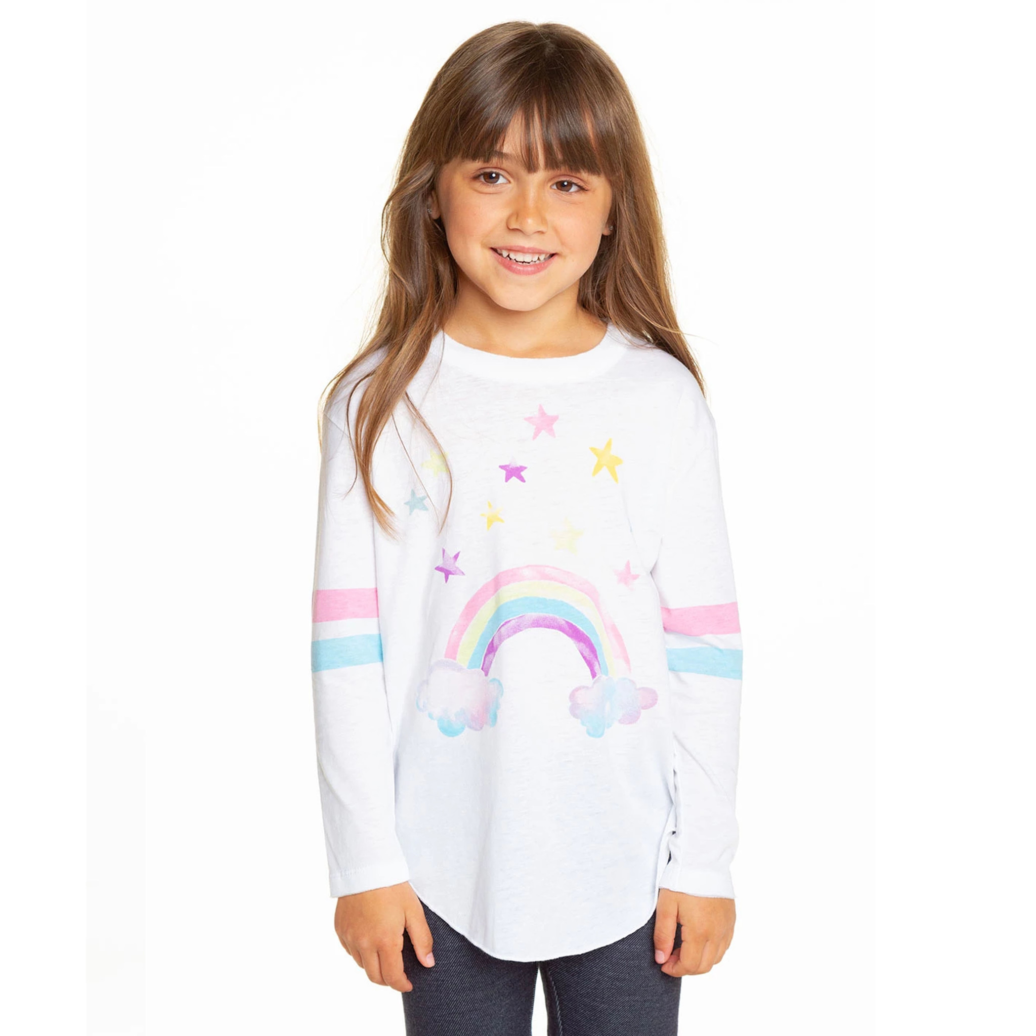 Chaser Watercolor Rainbow Top