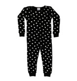 Baby Steps Black with Silver Hearts Infant PJ Set