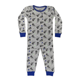 Baby Steps Grey Sneakers PJ Set