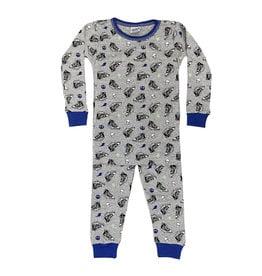 Baby Steps Grey Sneakers Infant PJ Set