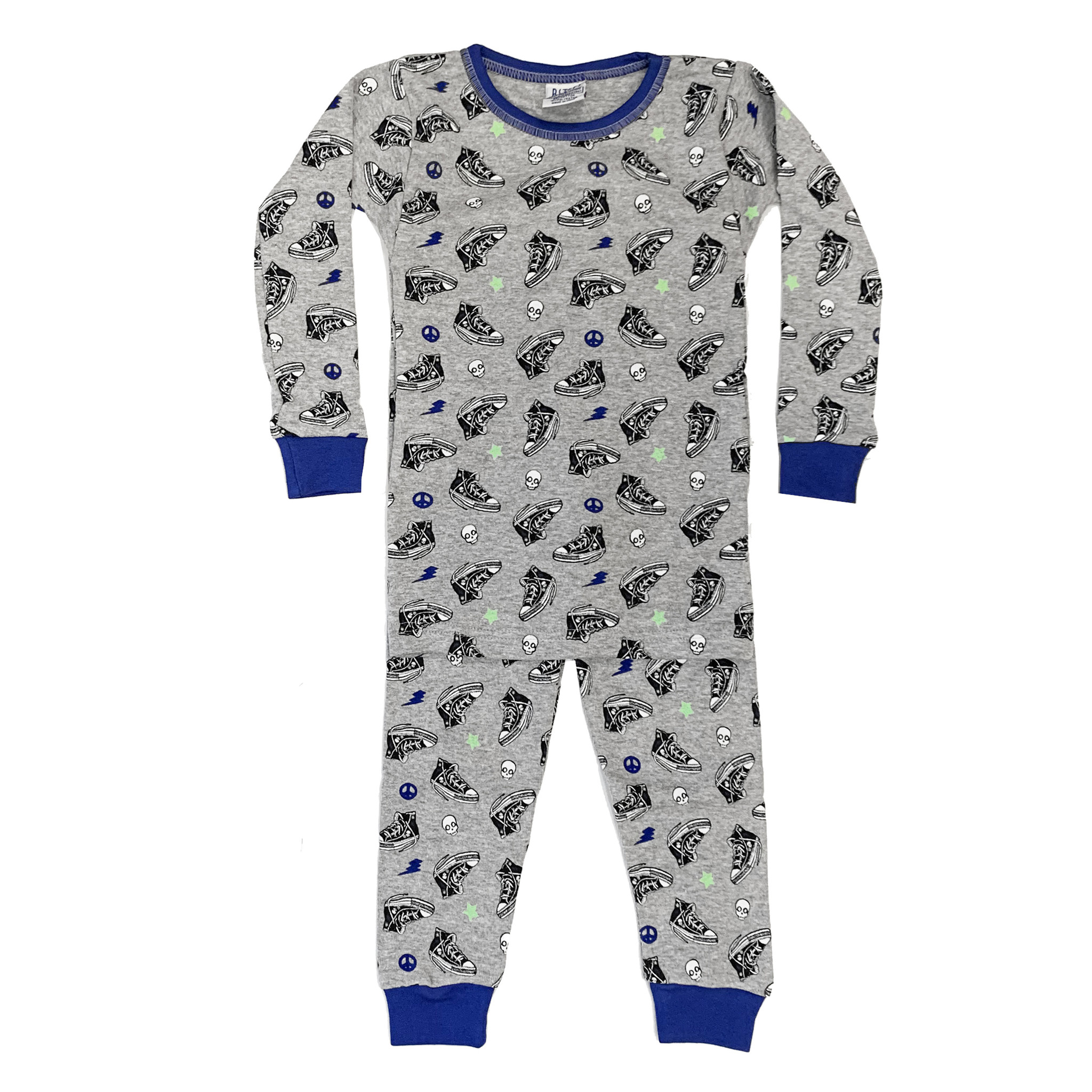Baby Steps Grey Sneakers Infant PJ Set
