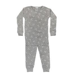 Baby Steps Grey Skulls Infant PJ Set