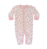 Baby Steps Pink Swans Footie