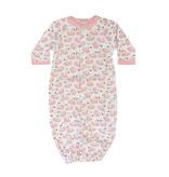 Baby Steps Pink Swans Gown NB