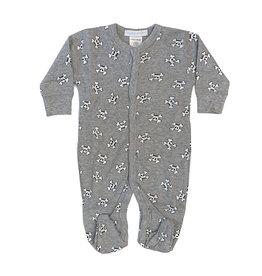 Baby Steps Grey Skulls Footie
