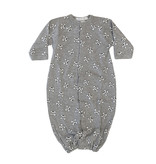 Baby Steps Grey Skulls Gown NB