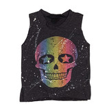 Firehouse Splatter Skull Muscle Tank