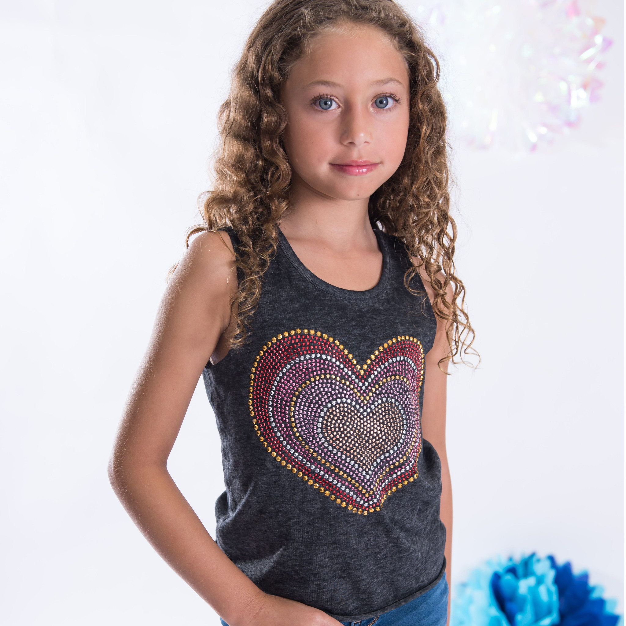 Sparkle Layered Heart Tank