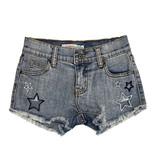 Vintage Havana Cutout Star Denim Shorts