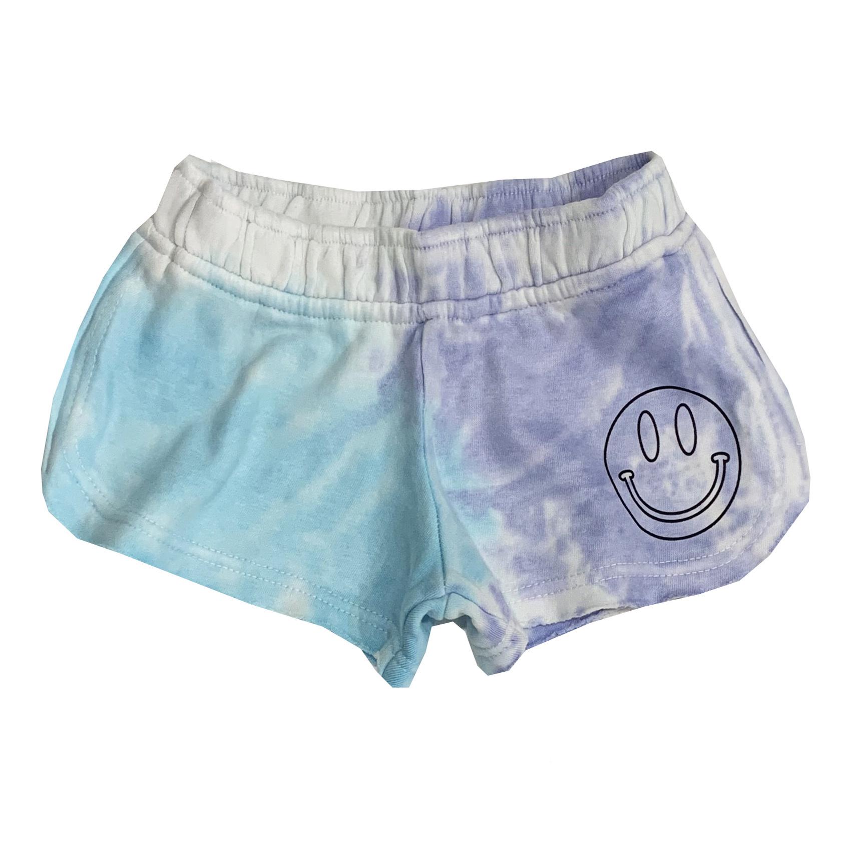 Vintage Havana Blue Tie Dye Happy Shorts