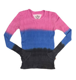 T2Love Dip Dye Thermal Top With Thumbholes