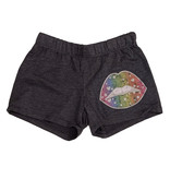 Firehouse Charcoal Neon Lips Shorts