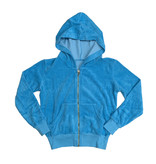 Project Riot Turquoise Terry Cloth Zip Hoodie