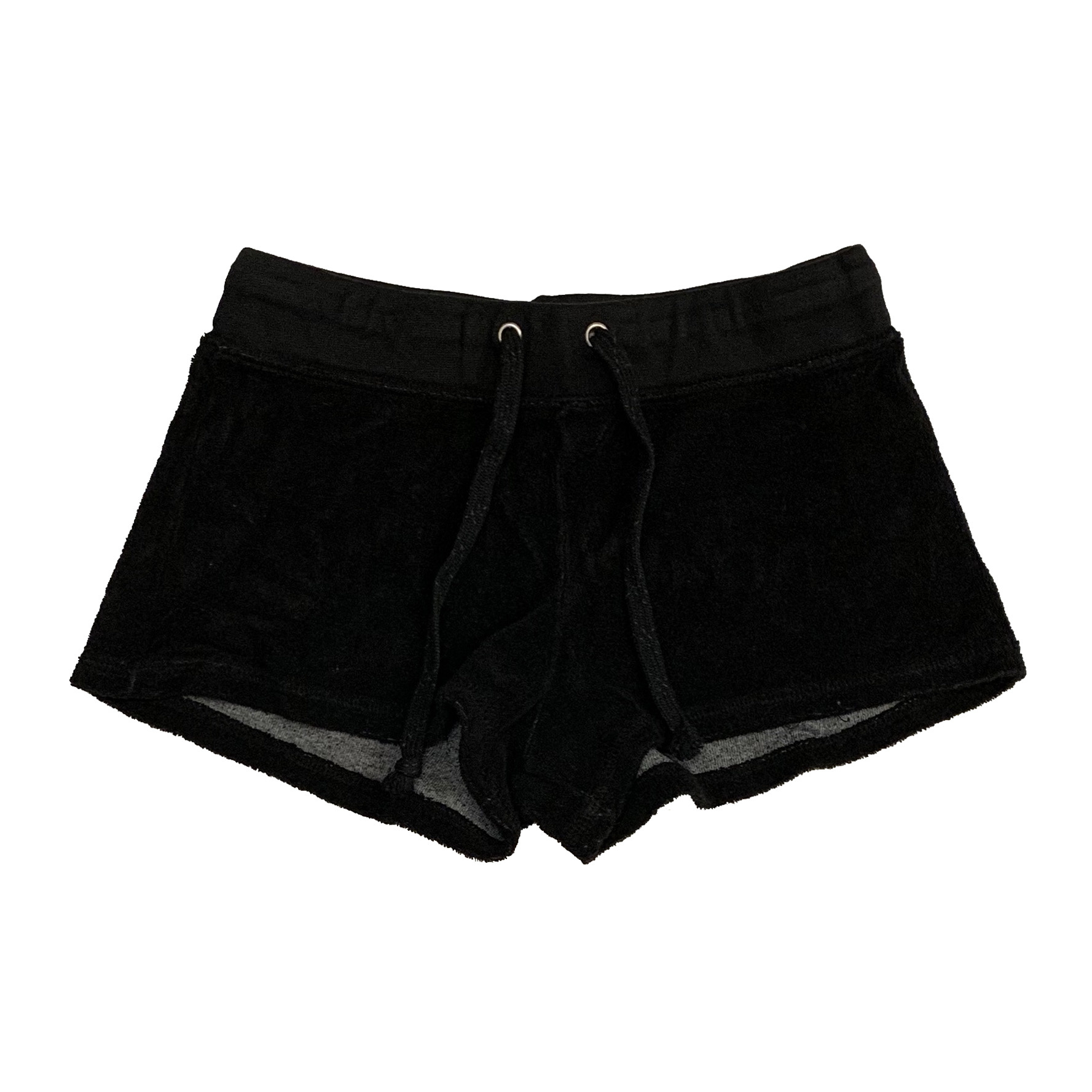 Project Riot Black Terry Cloth Shorts