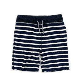 Appaman Navy & White Striped Sweat Shorts