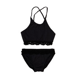Planet Sea Crochet High Neck Swimsuit
