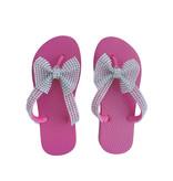 Planet Sea Pink Crystal Bow Flip Flops