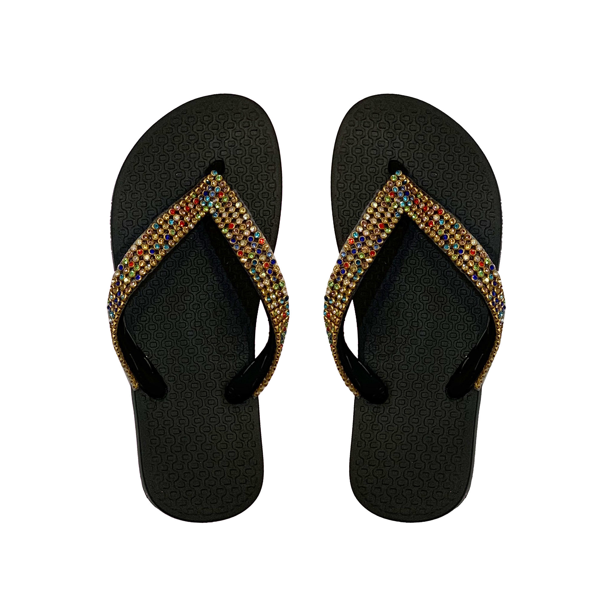 Planet Sea Multi Crystal Flip Flops