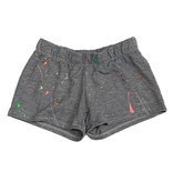 Firehouse Heather Grey Neon Splatter Short