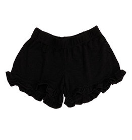 Firehouse Black Ruffle Short