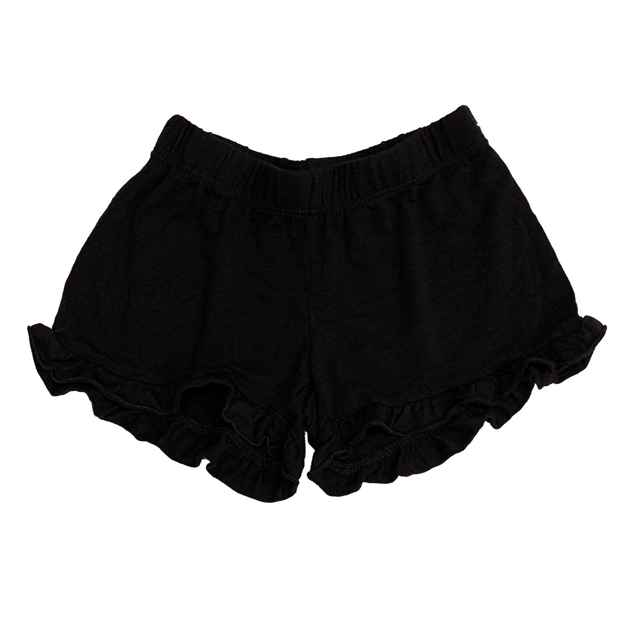 Firehouse Black Ruffle Short