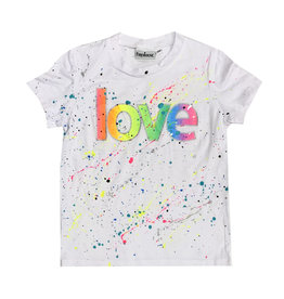 Firehouse White Neon Splatter Love Tee