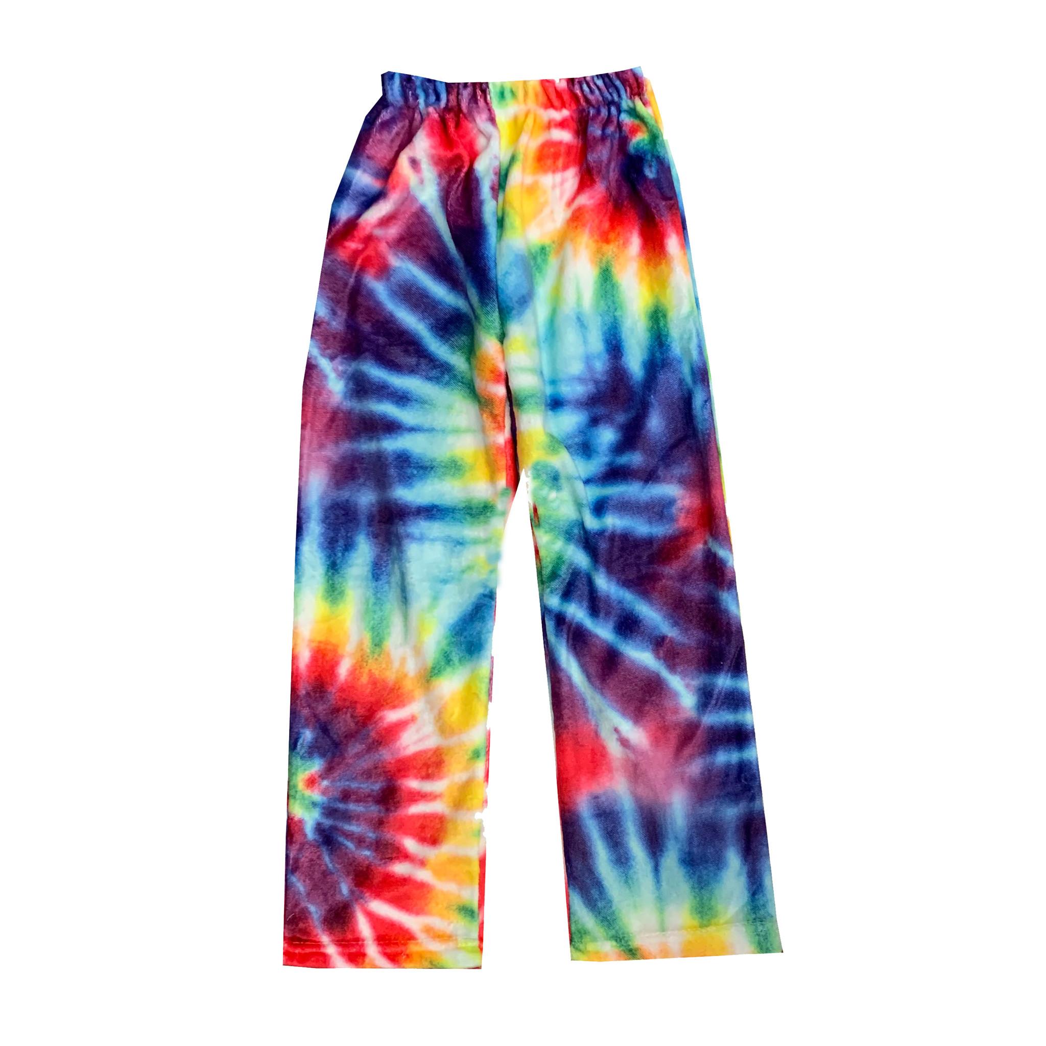 Top Trenz Tie Dye Plush Lounge Pants