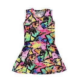 Dori Creations Hawaiian Palm Tank Dress