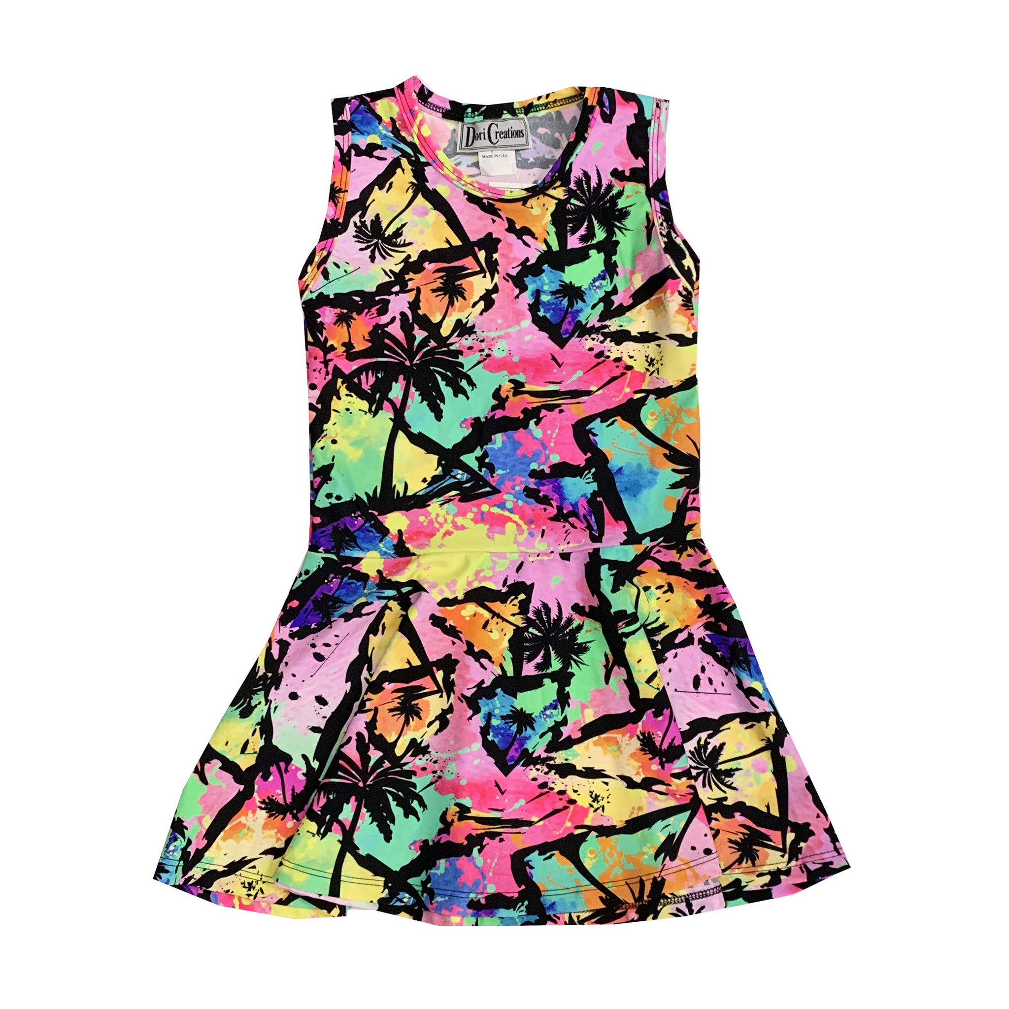 Dori Creations Hawaiian Palm Tank Dress