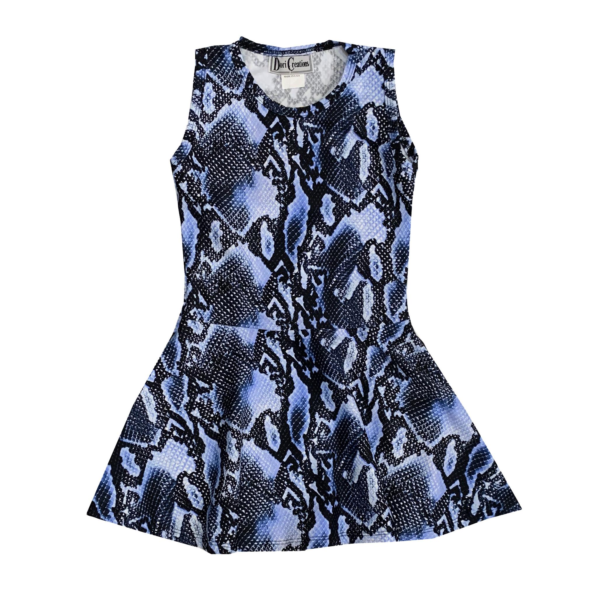 Dori Creations Navy Snake Print Tank Dress