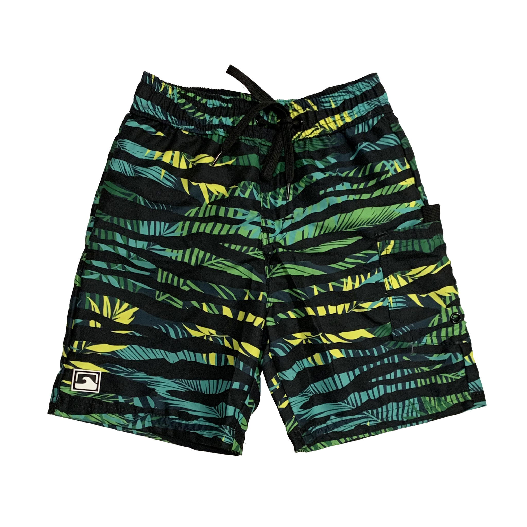 Coral Reef Black Jungle Swimshorts
