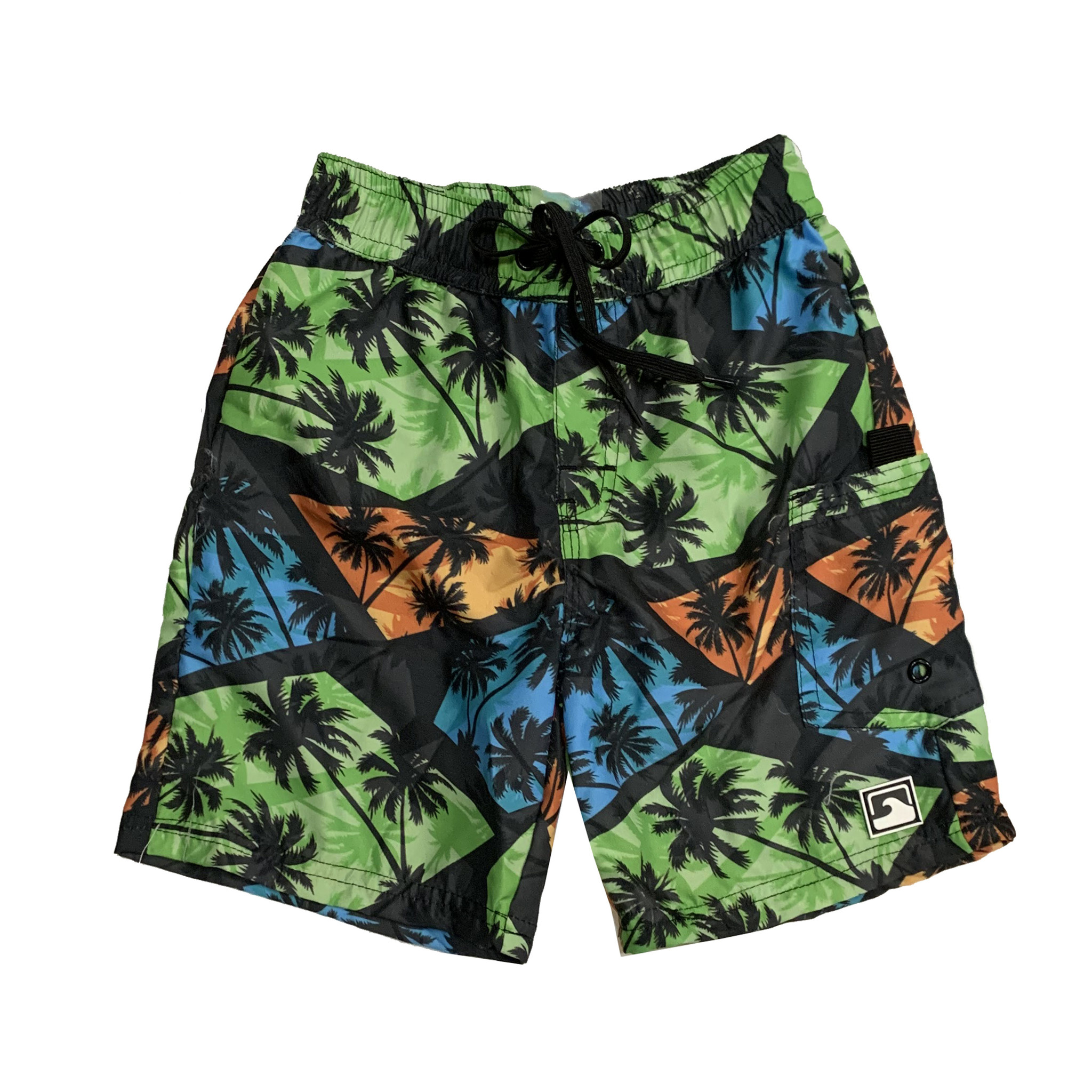 Coral Reef Infant Palm Night Swimshorts