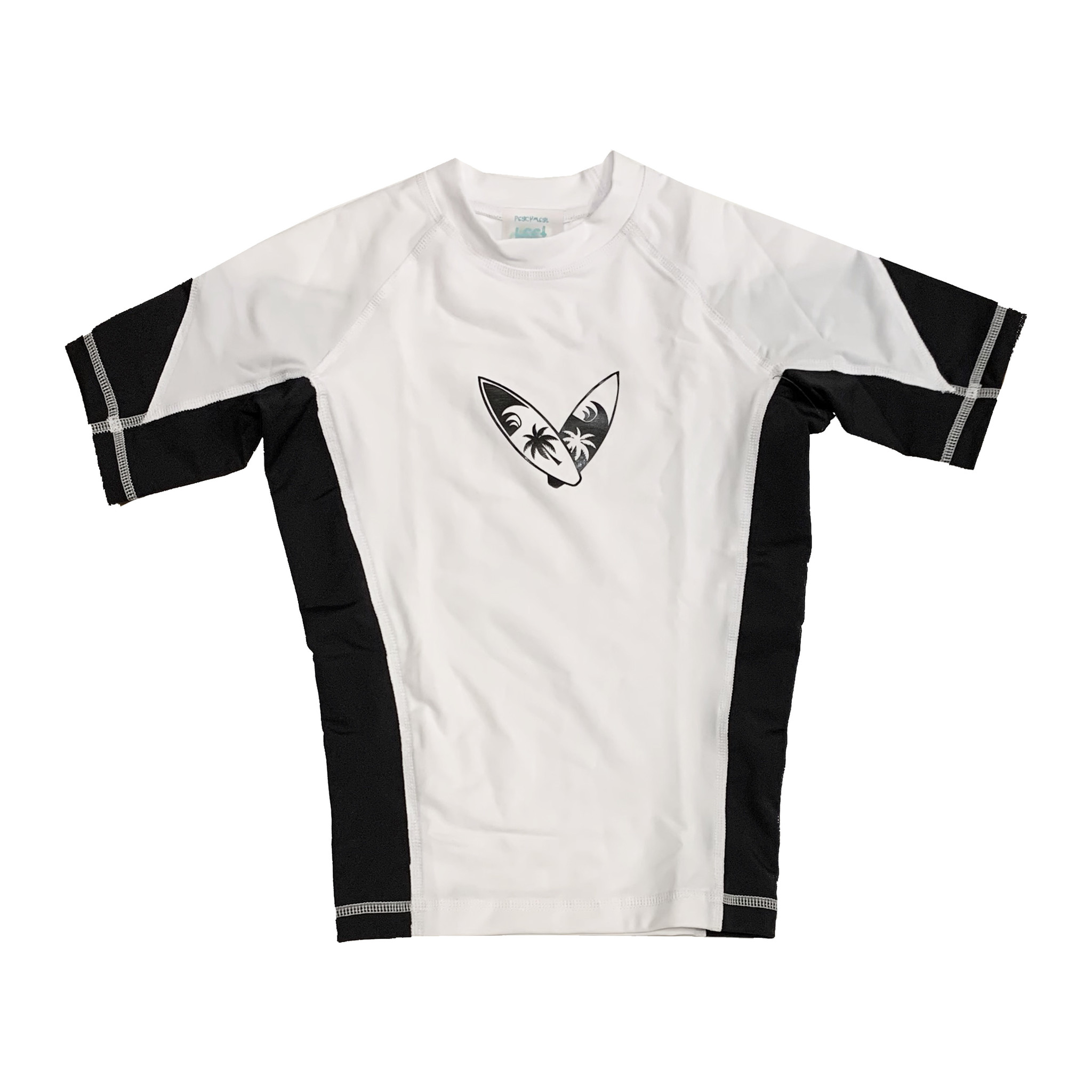 Coral Reef Black & White Surfboard Rashguard