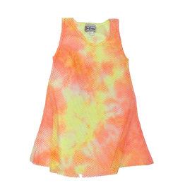Dori Creations Neon Orange & Yellow Mesh Coverup