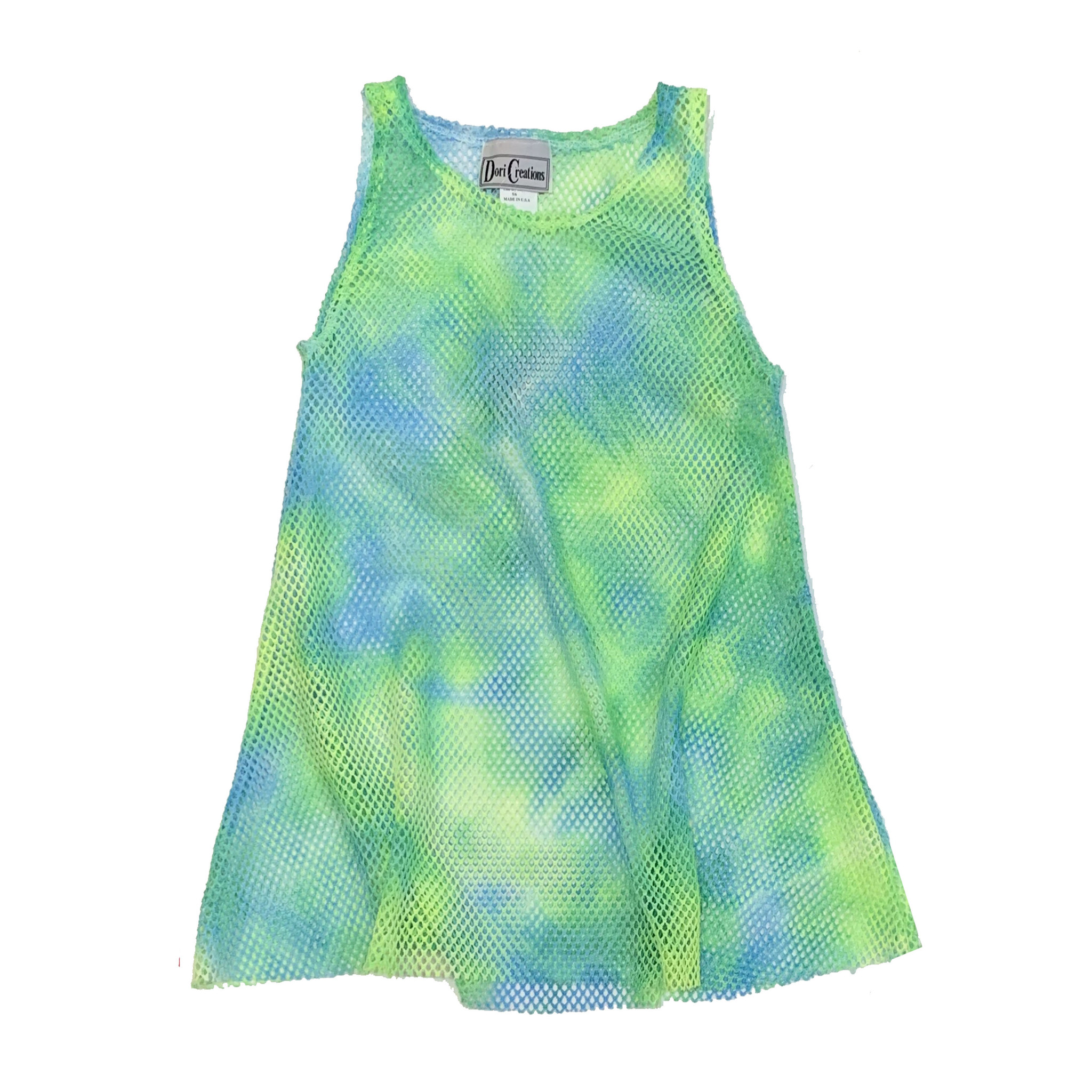 Dori Creations Neon Green & Blue Mesh Coverup
